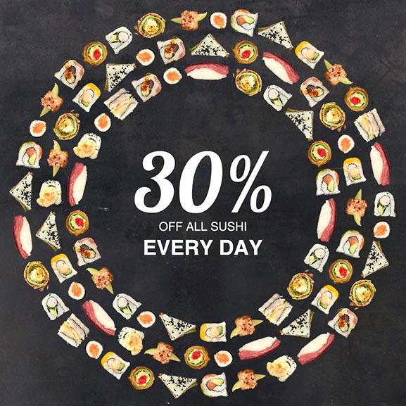 CTFM Birthday - Sushi 30% off all sushi