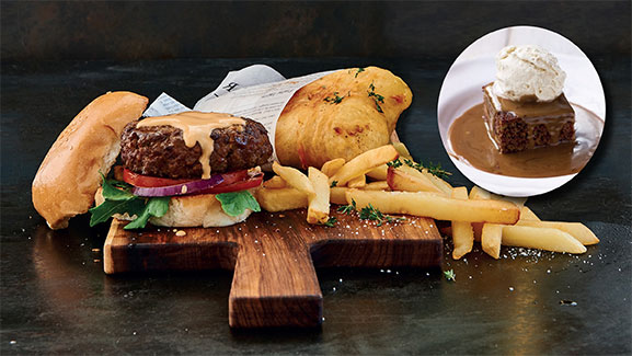 Monday Special - Hake Burger Chips Sticky Toffee at CTFM