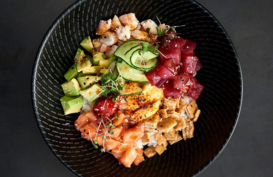 Introducing the poke bowl – a seafood, salad and sashimi love story